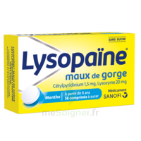 LysopaÏne Comprimés à Sucer Maux De Gorge Sans Sucre 2t/18 à BAR-SUR-SEINE