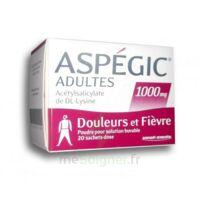 Aspegic Adultes 1000 Mg, Poudre Pour Solution Buvable En Sachet-dose 20 à BAR-SUR-SEINE