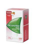 Nicorette 2 Mg Gomme à Mâcher Médicamenteuse Sans Sucre Fruits Plq/105 à BAR-SUR-SEINE
