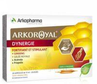 Arkoroyal Dynergie Ginseng Gelée Royale Propolis Solution Buvable 20 Ampoules/10ml à BAR-SUR-SEINE