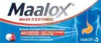 Maalox Maux D'estomac Hydroxyde D'aluminium/hydroxyde De Magnesium 400 Mg/400 Mg Sans Sucre Fruits Rouges, Comprimé à Croquer édulcoré à La Saccharine Sodique, Au Sorbitol Et Au Maltitol à BAR-SUR-SEINE