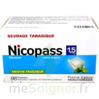 Nicopass 1,5 Mg Pastille Sans Sucre Menthe Fraîcheur Plq/96 à BAR-SUR-SEINE