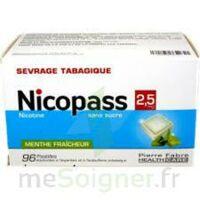 Nicopass 2,5 Mg Pastille Menthe Fraîcheur Sans Sucre Plq/96 à BAR-SUR-SEINE