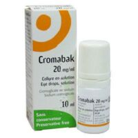 Cromabak 20 Mg/ml, Collyre En Solution à BAR-SUR-SEINE