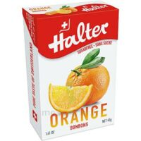 Halter Bonbon Sans Sucre Orange 40g à BAR-SUR-SEINE