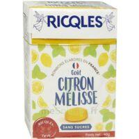 Ricqles Sucres Cuits Bonbon Citron Mélisse Sans Sucre B/40g à BAR-SUR-SEINE