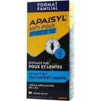 Apaisyl Anti-poux Xpress 15' Lotion Antipoux Et Lente 200ml+peigne à BAR-SUR-SEINE
