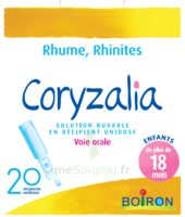 Boiron Coryzalia Solution Buvable Unidose B/20 à BAR-SUR-SEINE