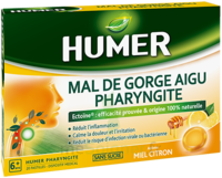 Humer Pharyngite Pastille Mal De Gorge Miel Citron B/20 à BAR-SUR-SEINE